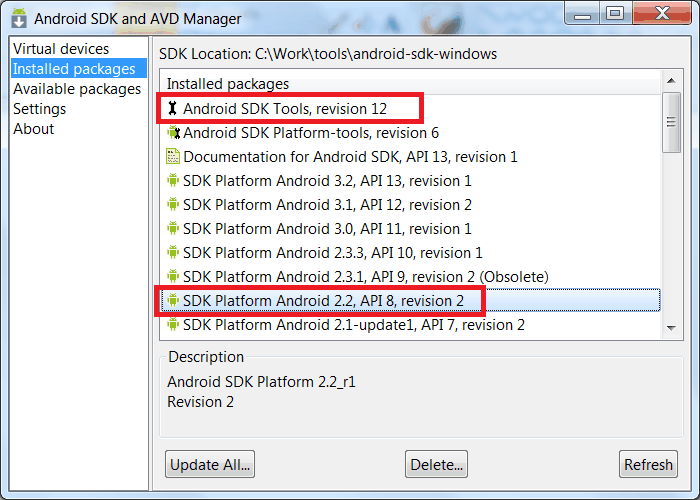 Using Android binary package with Eclipse — OpenCV 2 3 2
